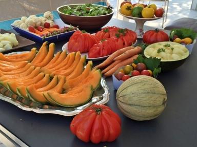 salades crudités tomates carottes melon chou-fleur tomates-cerises