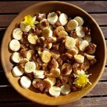 Bananes, dattes, sucre de coco et jonquilles pour IG-FB