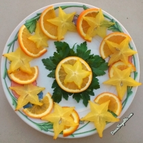 Carambole, orange et persil ; starfruit, orange and parsley