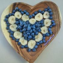 Coeur de fruits - myrtilles et banane