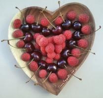 Coeur de fruits - cerise et framboise