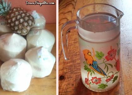 jeune coco et eau de coco