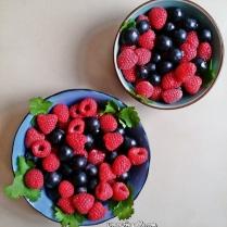 Myrtilles et framboises (2 bols)