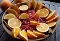 oranges, grenade et cannelle pour IG