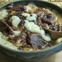 Purée de bananes, dates, caroube et purée de chataigne
