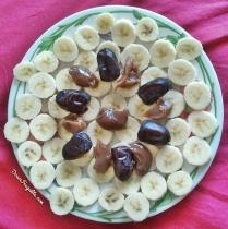 Bananes, dattes et crème de marrons