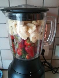 smoothie de banane-fraise