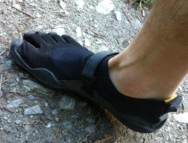 chaussures pieds nus