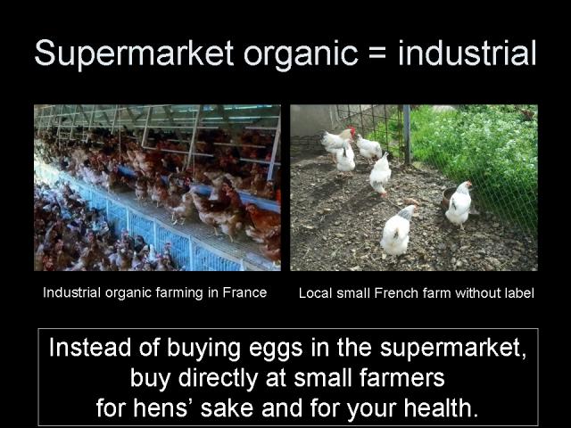 Supermarket organic = industrial