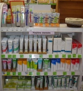 Rayon hygiène dentaire, dentifrice, brosse à dent