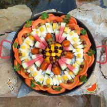 papaye, mangue, raisin, melon, pastèque, kaki, coriandre