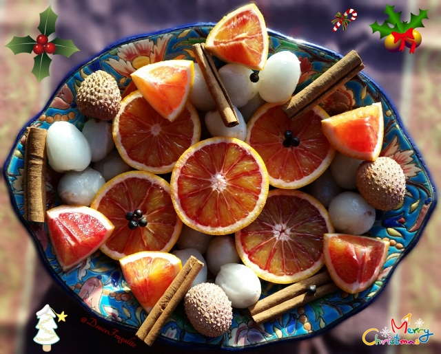 noel oranges sanguines et litchis