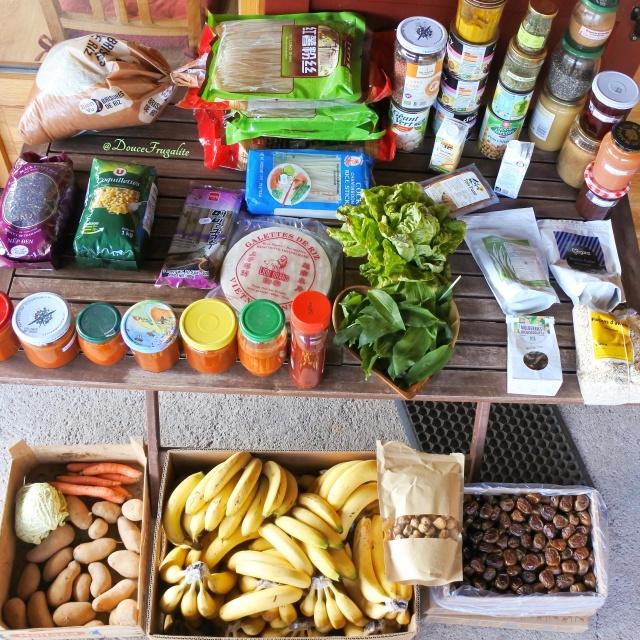 garde-manger réserves d'avril végétalien végane fruits féculents